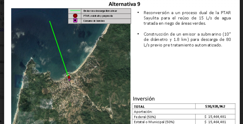 CONAGUA proposal for water sanitation - Sayulita