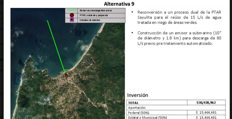 Propuesta aceptada después de análisis entre empresarios y CONAGUA para saneamiento de agua en Sayulita