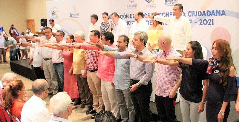 Consejeros asignados por municipio tomando protesta en foros de consulta ciudadana