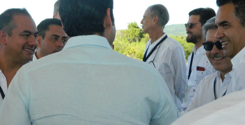 Gobernador Antonio Echevarría y representantes de la ADEPM en Costa Canuva 24 de Noviembre 2017