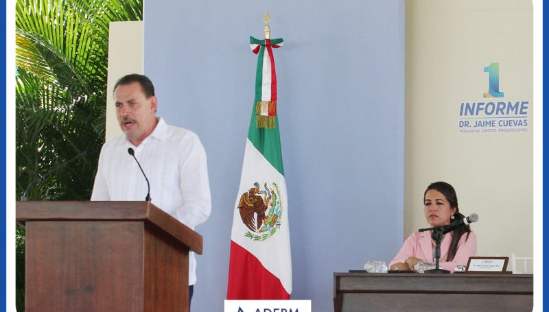 con un especial agradecimiento a la ADEPM Jaime Cuevas da inicio a su primer informe de gobierno